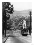 San Francisco  CA Cable Cars on Fillmore St Hill Photograph - San Francisco  CA