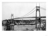 Portland  OR View of St John Bridge over Columbia Photograph - Portland  OR