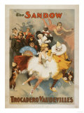 Sandow Trocadero Vaudevilles Carnival Theme Poster