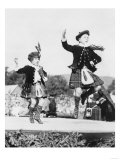 Two Scottish Children in Kilts Dancing Photograph - Scotland