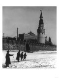 Moscow River and Kremlin in Winter Photograph - Moscow  Russia