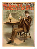 Sherlock Holmes Theatrical Play Poster No1
