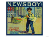 Newsboy Orange Label - Redlands  CA