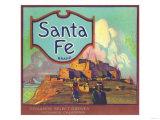 Santa Fe Orange Label - Redlands  CA