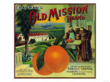 Old Mission Orange Label - Fullerton  CA
