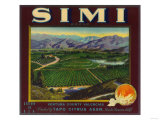 Simi Orange Label - Santa Susana  CA