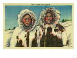 Native Eskimo Girls in Alaska - Alaska State