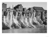 Mills on the American Side of Niagara Falls Photograph - Niagara Falls  NY
