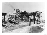 Nome  Alaska View of an Eskimo Garage Photograph - Nome  AK