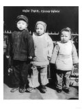 Three Children on New Year&#39;s in Chinatown NYC Photo - New York  NY