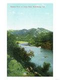 Aerial View of Russian River at Camp Rose - Healdsburg  CA