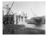 Fremont Bridge Construction Photograph - Seattle  WA