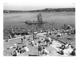 Green Lake Swimming Beach Photograph - Seattle  WA