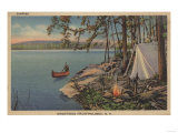 Pulaski  NY View of Canoe  Camping  Tent  Lake - Pulaski  NY