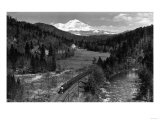 View of the Mountain  Valley  and Train - Mt Shasta  CA
