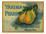Yakima Pears Crate Label - Toppenish  WA