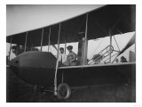 Katharine Wright with Orville in Model HS Plane Photograph - Kitty Hawk  NC