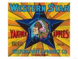 Western Star Apple Label - Yakima  WA