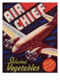 Air Chief Vegetable Label - Salinas  CA