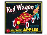Red Wagon Apple Label - Yakima  WA