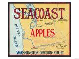 Sea Coast Apple Label - Yakima  WA