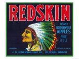 Redskin Apple Label - Yakima  WA