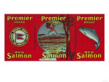 Premier Salmon Can Label - San Francisco  CA