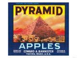 Pyramid Apple Label - Yakima  WA