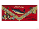 Sweet Pea Salmon Can Label - Anacortes  WA