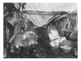 Interior of Eskimo Hut Photograph - Alaska