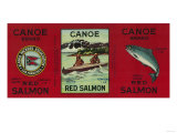 Canoe Salmon Can Label - San Francisco  CA