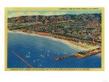 Yacht Harbor  The Palisades  and Santa Monica Beach - Santa Monica  CA