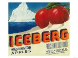 Iceberg Apple Label - Yakima  WA