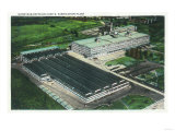 Aerial View of Goodyear-Zeppelin Fabrication Plant - Akron  OH