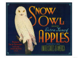 Snow Owl Apple Label - Yakima  WA