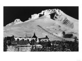 Aerial View of Timberline Lodge and Ski Lift - Mt Hood  OR