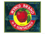 Wynco Apple Label - Yakima  WA