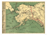 Alaska - Panoramic State Map