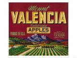 Mount Valencia Apple Label - Watsonville  CA