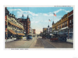 View of Main Street with Model-T Ford Cars - Boise  ID