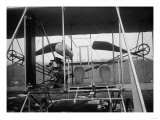 Wright Brothers Plane with Pilot and Passenger Seats Photograph - Dayton  OH