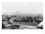A Winter Aerial View of City - Missoula  MT