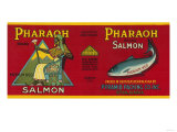 Pharaoh Salmon Can Label - Sitka  AK
