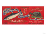 Terrapin Salmon Can Label - Bellingham  WA
