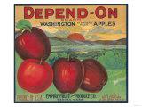 Depend On Apple Label - Yakima  WA