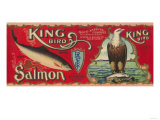 King Bird Salmon Can Label - Bellingham  WA