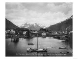 Sitka  Alaska with Three Sisters Photograph - Sitka  AK