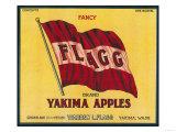 Flagg Apple Label - Yakima  WA