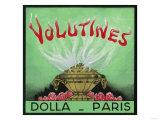 Volutines Perfume Label - Paris  France
