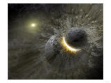 Artist's Concept Space Collision at Vega Photograph - Outer Space